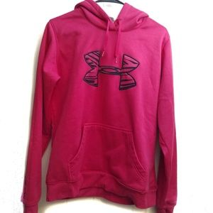 Under Armour Hot Pink and Black Zebra Print Hoodie